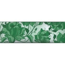 Samolepiaca bordúra Zelené kvety  BO5015 10,6cmx5m