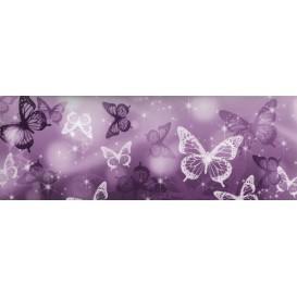 Samolepiaca bordúra Fialové motýle BO0067 10,6cmx5m