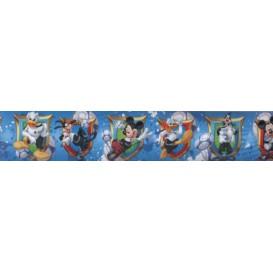 Samolepiaca bordúra Mickey Mouse modrá BO5041 5,3cmx5m