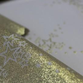 Vianočný obojstranný teflónový obrus zlatý Hviezdičky