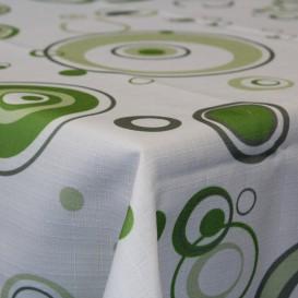 Obrus teflónový Zelené kruhy