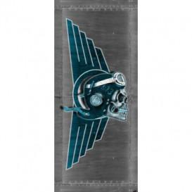 Dverová fototapeta - DV0322 - Lebka – pilot sivý