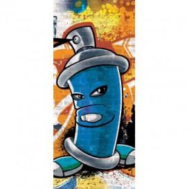 Dverová fototapeta - DV0329 - Street Style - Graffiti - modrá