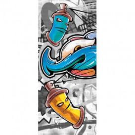 Dverová fototapeta - DV0513 - Grafity