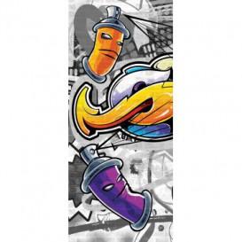 Dverová fototapeta - DV0514 - Grafity