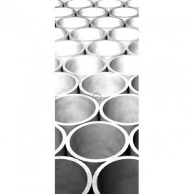 Dverová fototapeta - DV0543 - 3D tunely