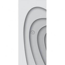 Dverová fototapeta - FT3486 - Biele krivky