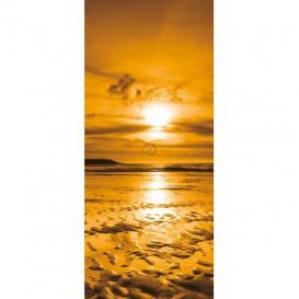 Dverová fototapeta - DV0133 - Žltý západ slnka