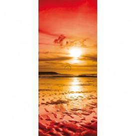 Dverová fototapeta - DV0223 - Oranžový západ slnka