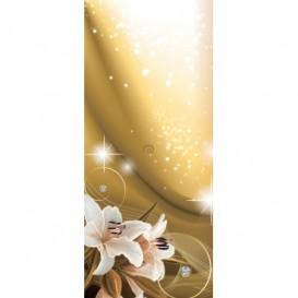 Dverová fototapeta - DV0572 - Kvety na zlatom pozadí