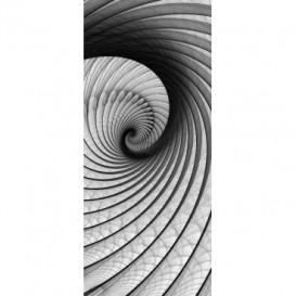 Dverová fototapeta - DV0168 - Čiernobiely twister