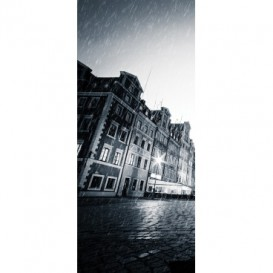 Dverová fototapeta - DV0691 - Chlapec v daždi