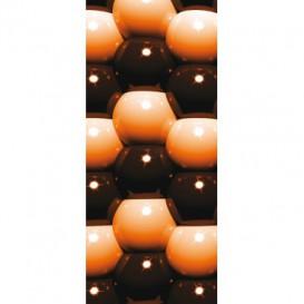 Dverová fototapeta - DV0206 - 3D Oranžové guľôčky