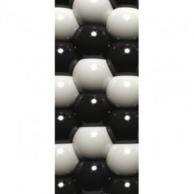 Dverová fototapeta - DV0210 - 3D Sivé guľôčky