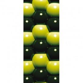 Dverová fototapeta - DV0212 - 3D Zelené guľôčky