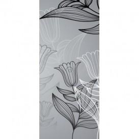 Dverová fototapeta - DV0026 - Čiernobiele kvety