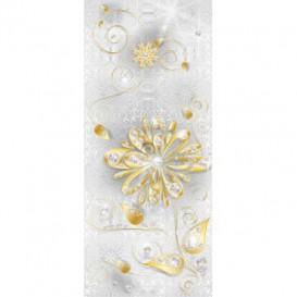 Dverová fototapeta - DV0274 - Zlatý kvet