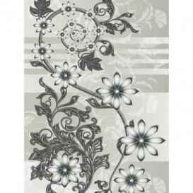 Fototapeta panel - PL0054 - Kvetovaný motív – sivý
