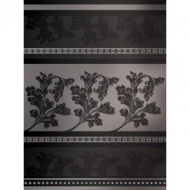 Fototapeta panel - PL0176 - Kvetovaný ornament - sivé pozadie