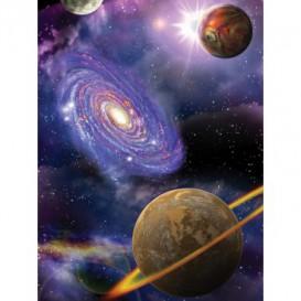 Fototapeta panel - PL0303 - Vesmír - galaxia a planéty