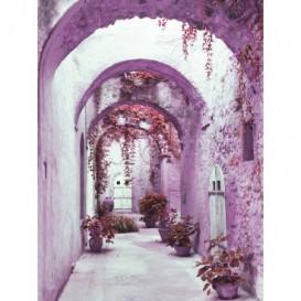Fototapeta panel - PL0309 - Staromestská ulička - fialová