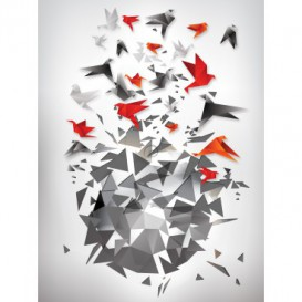 Fototapeta panel - PL0344 - Abstraktné farebné origami