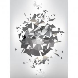 Fototapeta panel - PL0345 - Abstraktné čierno biele origami