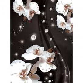 Fototapeta panel - PL0385 - Biele kvety na sivom pozadí