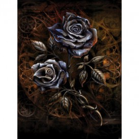Fototapeta panel - PL0403 - Kovové ruže – hnedé