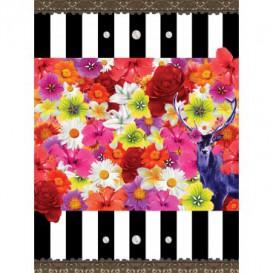 Fototapeta panel - PL0416 - Kvety na čiernobielom pozadí