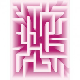 Fototapeta panel - PL0448 - 3D - Labyrint – ružový