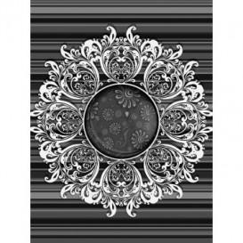 Fototapeta panel - PL0493 - Čiernobiely ornament