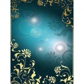 Fototapeta panel - PL0542 - Zlatý ornament na tyrkysovom pozadí