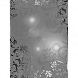 Fototapeta panel - PL0544 - Strieborný ornament na sivom pozadí