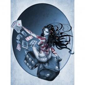Fototapeta panel - PL0552 - Hráčske kocky – žena modrá