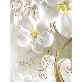 Fototapeta panel - PL0590 - Kvetovaný ornament – biele pozadie