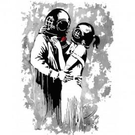 Fototapeta panel - PL0591 - Banksy - zaľúbený