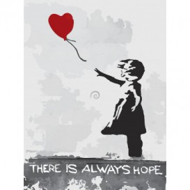 Fototapeta panel - PL0592 - Banksy - dievčatko z balónom