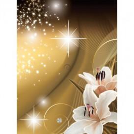 Fototapeta panel - PL0625 - Kvety na zlatom pozadí