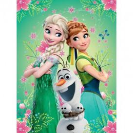 Fototapeta panel - PL0653 - Frozen Elsa,Anna a Olaf