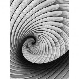 Fototapeta panel - PL0695 - Čiernobiely twister