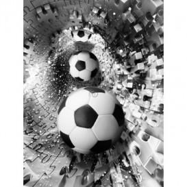 Fototapeta panel - PL0778 - Futbalové lopty 3D tunel