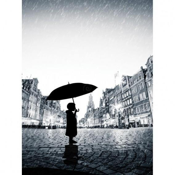 Fototapeta panel - PL0823 - Chlapec v daždi