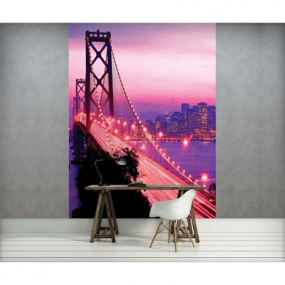 Fototapeta panel - PL0842 - Golden Bridge fialový