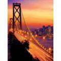 Fototapeta panel - PL0843 - Golden Bridge oranžový