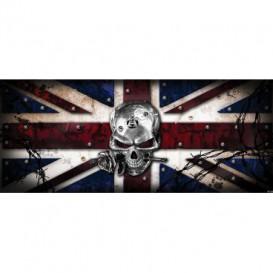 Panoramatická fototapeta - FT2255 - Lebka – anglická vlajka