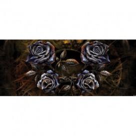 Panoramatická fototapeta - FT2257 - Kovové ruže – hnedé