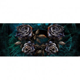 Panoramatická fototapeta - FT2258 - Kovové ruže – modré