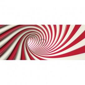 Panoramatická fototapeta - FT3417 - Špirálový červený tunel