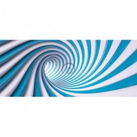 Panoramatická fototapeta - FT3760 - Špirálový modrý tunel - 3D